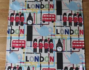 cotton Teatowel/drying up cloth/ kitchen towel/ London gift/London teatowel