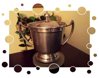 Vintage Pewter Ice Bucket Kings Quality Pewter by Trinac