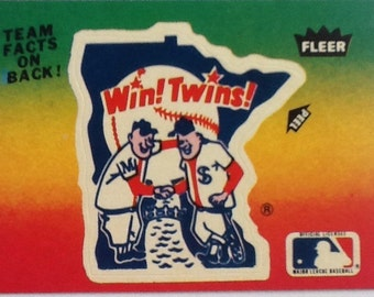 Vintage 1980's Fleer Team MLB baseball Sticker Card Minnesota Twins