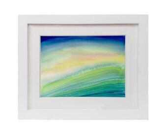 Framed Abstract Watercolor Print Modern Abstract Art Print Canvas Wall Decro