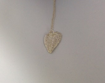 Pure Silver LEAF Pendant Necklace        1133