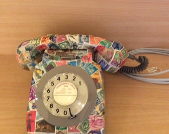 "RETRO BT Telephone - ""STAMPS"""