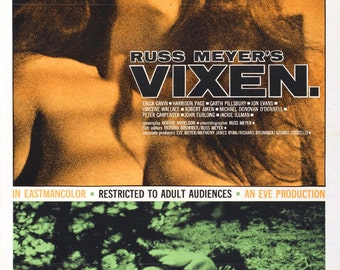 VIXEN Movie POSTER Expliotation Russ Meyer
