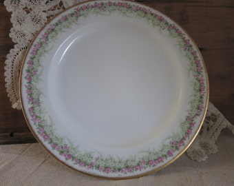 Vintage Limoge Plate  French  Dessert Plate Made in France Shabby Style Cottage Chic