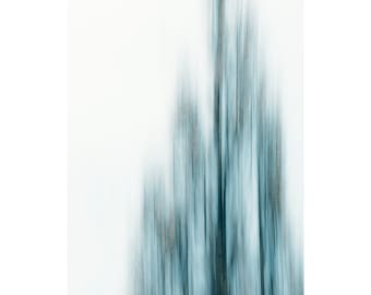 Abstract Photography PRINT, Ice Blue -3, Wall Art