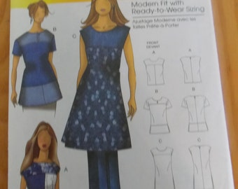 Sewing pattern Butterick 5503 Misses' blouse new uncut size XS to XL