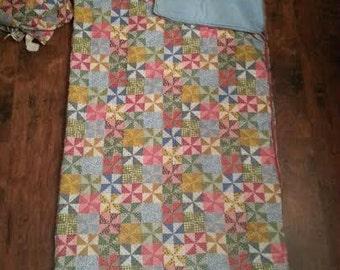 Vintage Sleeping Bag - Shabby Chic Sleeping Bag - Sleeping Bag - Quilted Sleeping Bag - Slumber Party