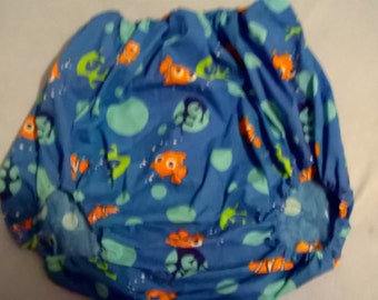 Adult baby Finding Nemo design forward facing legs pants/nappy covers