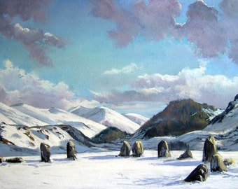 Print Castlerigg Stone circle signed A4 Print