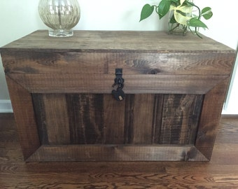 Handcrafted Wood Trunk/Chest