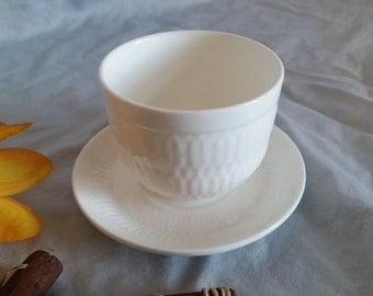 Royal Doulton Handleless Cup and Saucer in a Classy White