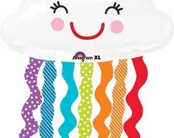 "Rainbow Cloud Balloon, Cloud Balloon, Cloud Decoration, Rainbow Decoration, Rainbow Theme, Weather Theme, Classroom Decoration, Weather, 30"""