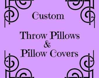 Personalized Throw Pillows, Personalized Pillow Covers, Personalized Sofa Pillow Covers, Personalized Toss Pillows,  Toss Pillow Covers