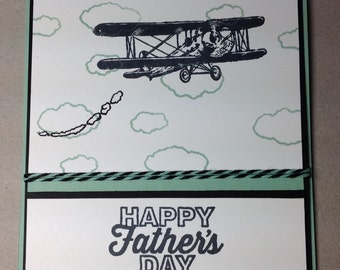 Father's Day greeting card with an airplane