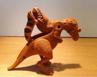 Vintage Plastic Dinosaur Toy with two Heads