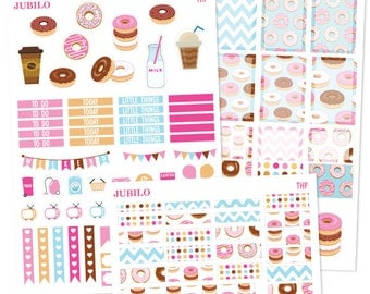 Planner Stickers - Weekly Kit - Donuts