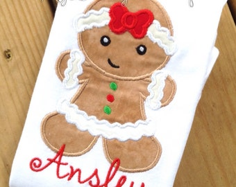 Girls Christmas shirt, Christmas shirt, Girls Gingerbread shirt, Gingerbread Christmas shirt, Custom Christmas shirt
