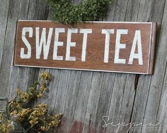 Sweet Tea, Handpainted Rustic Sign