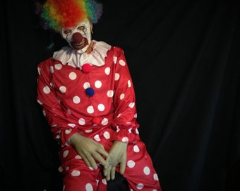 6 Foot Tall Posable Scary Clown