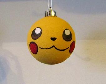 hand painted pikachu pokemon bauble