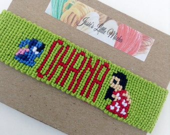 Lilo and Stitch Bracelet / Ohana bracelet / Disney bracelet / Lilo and Stitch Ohana bracelet / Lilo and Stitch jewelry / handmade bracelets