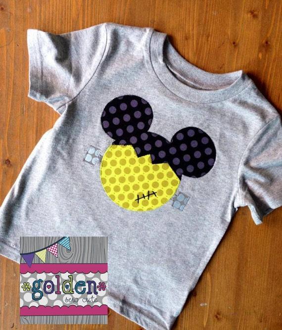 Halloween Mickey Frankenstein Boy Tee, Boy Shirt, Onesie