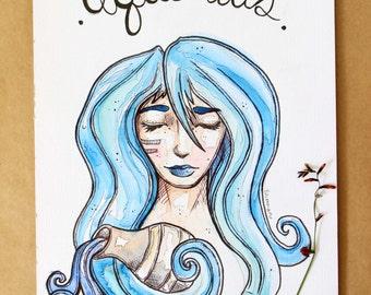 Original Aquarius Illustration