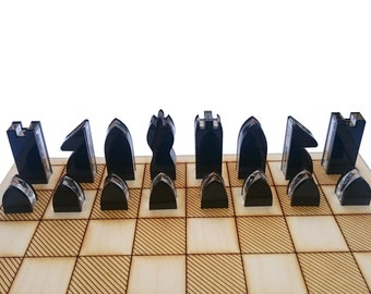 laser cut acrylic chess chess pieces