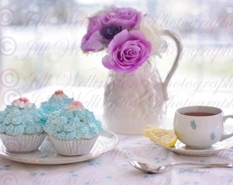 DIGITAL Fine Art Photography, photo, jpg file, instant download, Morning Tea