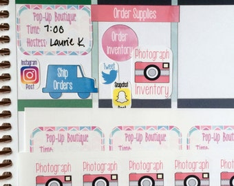 Consultant Sticker Kit / Fits Erin Condren Planners, Happy Planners, Passion Planners & more! / Calendar Stickers