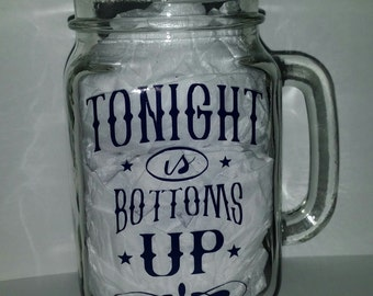 Bottoms Up Mason Jar Mug