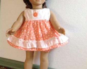 18 Inch Doll Clothes, Doll Summer Dress, Polka Dots