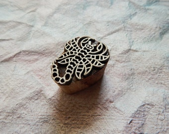 Indian Wood Stamp, Scorpion Stamp, Wooden Block, Wooden Printing Block, Textile Stamp, Wooden Stamp, Pottery Stamp