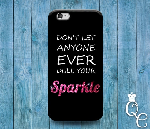 iPhone 4 4s 5 5s 5c SE 6 6s 7 plus iPod Touch 4th 5th 6th Gen Cool Pink Sparkle Phone Cover Quote Black Cute Girly Girl Life Funny Case