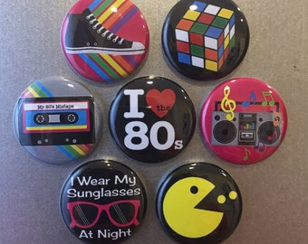 80's Magnets - set of 7