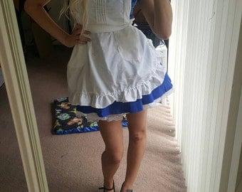Alice in Wonderland Cosplay Costume Dress, Petticoat, and Apron