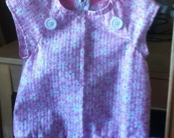 4 Toddler Pink and White Daisy Dress