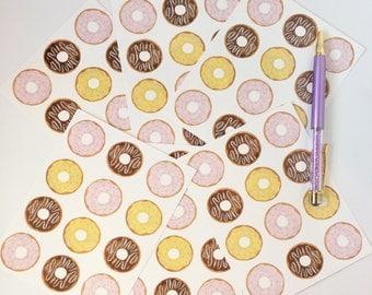 Donut postcard set