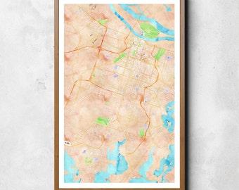 Map of Savannah, Savannah, Savannah art, Savannah map, Savannah print, Savannah decor, Savannah gift, Savannah art map, Savannah poster