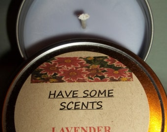 Lavender Soy Candle in 8 oz. tin