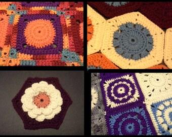 CROCHET PATTERN BUNDLE Crochet Granny Patterns Bundle of 4