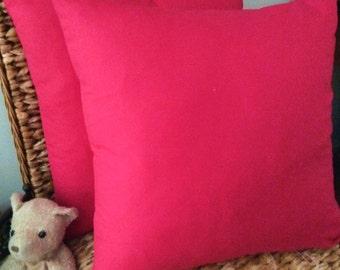 Bright Fuchsia Pink Soft Microfibre Cushion Covers 45cm x 45cm