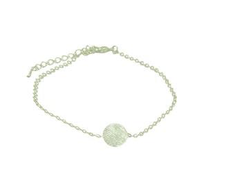 Round disc bracelet, disc jewelry, circle  bracelet, dainty bracelet, gold disc bracelet, silver disc bracelet