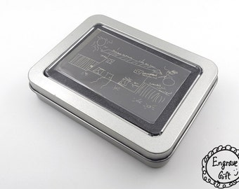 Personalized Engraveable Iron Gift Box For Wallet Insert Card