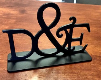 Custom, Metal Cake Topper, Table Decor Sign,  Keepsake, Letter, Words, Sayings. Monogram.  Initial Cake Topper. Pricing by quote.