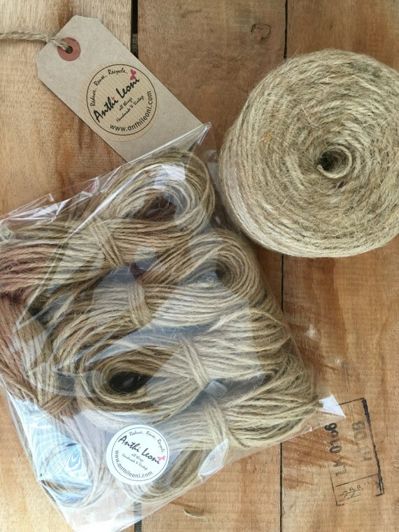 50m Natural Brown Rustic Twine - 3mm Thick Quality Jute Craft Twine / String Gift Pack / Shabby Chic Wedding Twine / Packaging Jute Twine