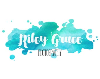 Premade Customizable Watercolor Logo - The Riley - Business Cards - Blog Marketing - Branding