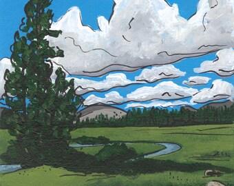 Tuolumne Creek, Acrylic Painting, Next92 Series