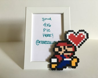 Mario Picture Frame-Mario Birthday-Supermario-Video games-Nintendo-Birthday Gifts - Picture Frame