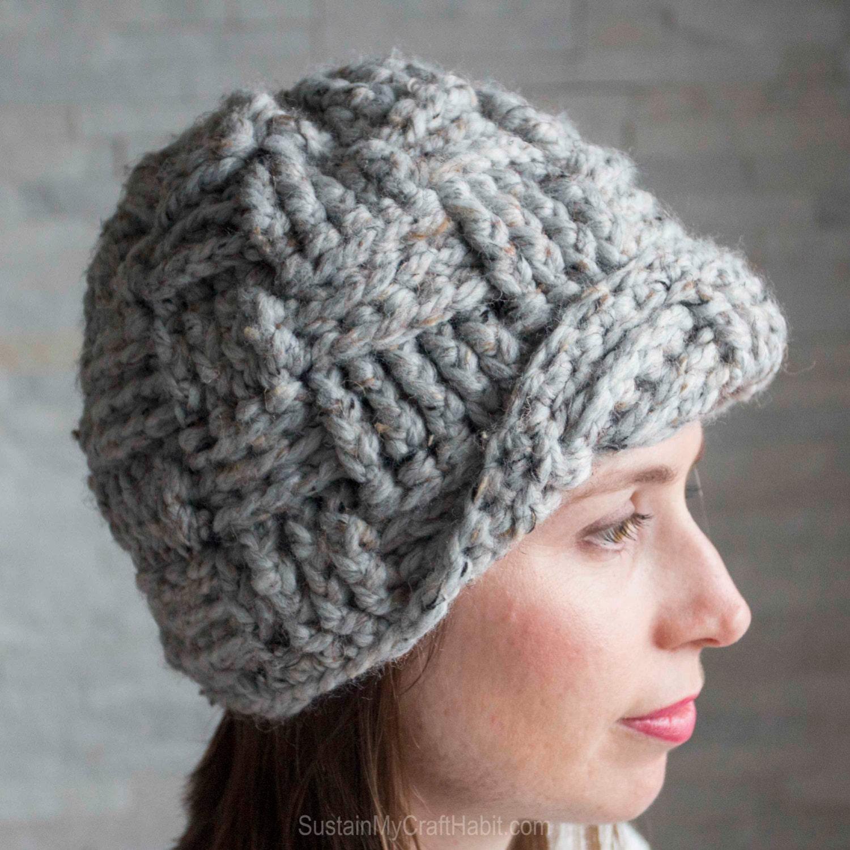 How To Make A Basket Weave Hat : Pattern crochet basketweave hat instant download